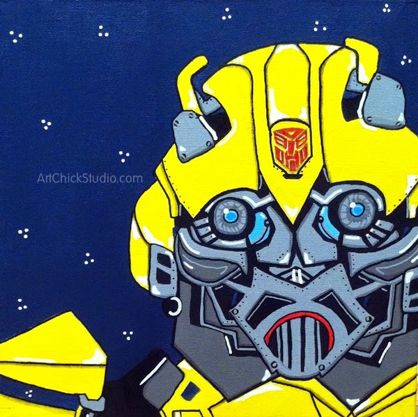 Bumblebee Transformer Painting