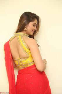 Actress Ashwini in Golden choli Red saree Spicy Pics ~  089.JPG
