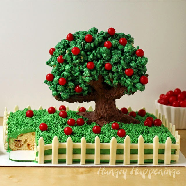Hungry Happenings: Rice Krispie Treat Apple Tree