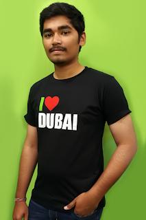 I Love Dubai Led T shirts for Men