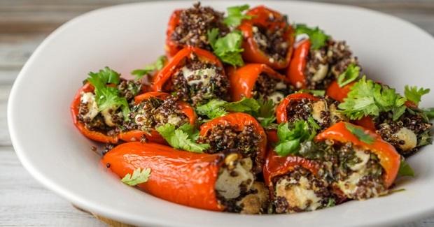 Vegetarian Stuffed Mini Bell Peppers Recipe
