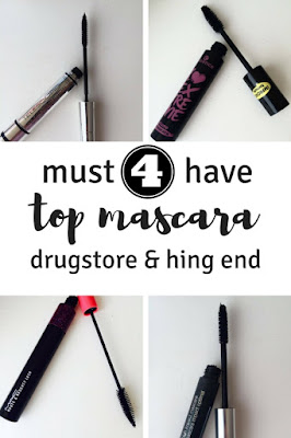 4 must have top mascaras drugstore & high end