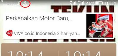 status bar kecepatan