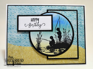 Our Daily Bread Designs Stamp Set: Brother In Christ, Paper Collection: By the Shore, Custom Dies: Pierced Rectangles, Double Stitched Rectangles, Pierced Circles, Circles, Leafy Edged Borders