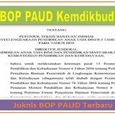 Juknis BOP PAUD 2019 Kemdikbud Terbaru Nomor 4 Tahun 2019