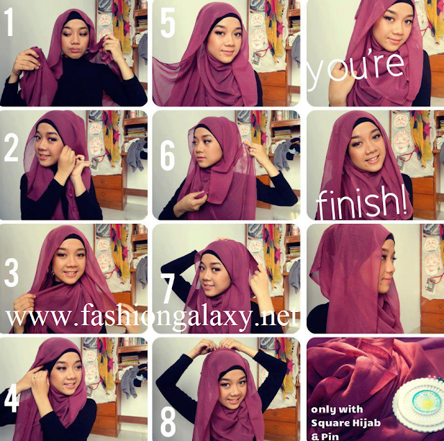 step by step hijab 2