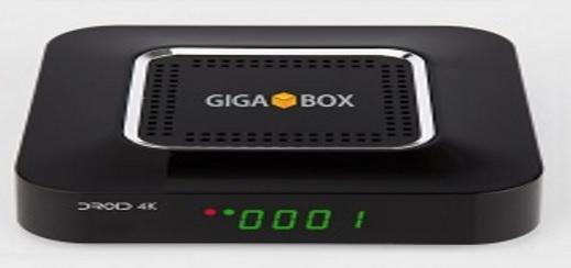 GIGABOX DROID 4K ATUALIZAÇÃO - 30/08/2017