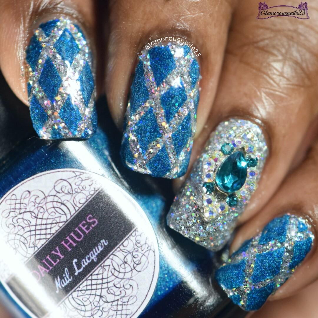 Lady Queen Diamond Nail Charm + Nail Art - Glamorousnails23