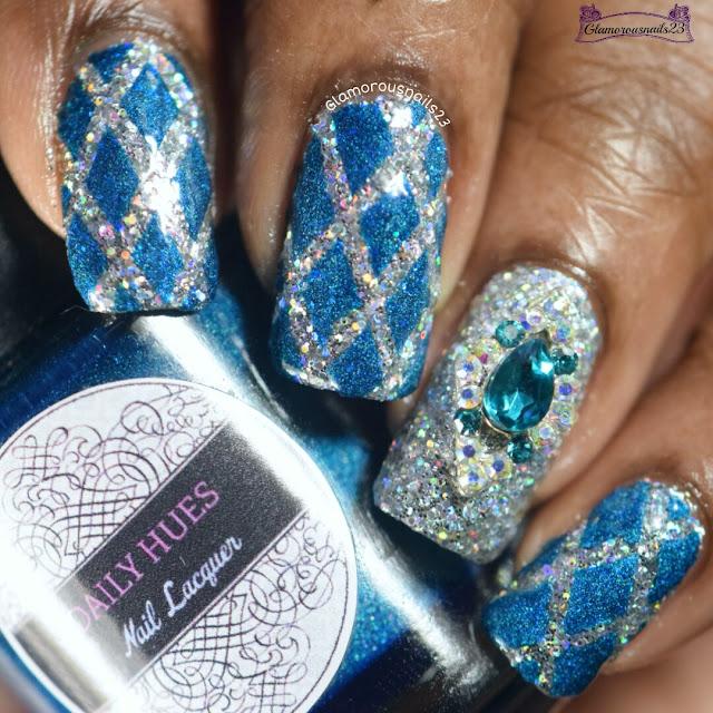 Lady Queen Diamond Nail Charm