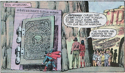 Action Comics #402, Superman prepared Montezuma's Plateau for the tourists