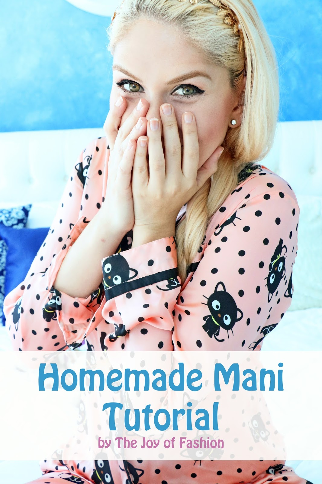 Click through to see the full tutorial on how to do a homemade manicure