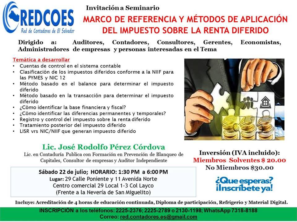 Red de Contadores de El Salvador, la gremial Inclusiva: MARCO DE ...