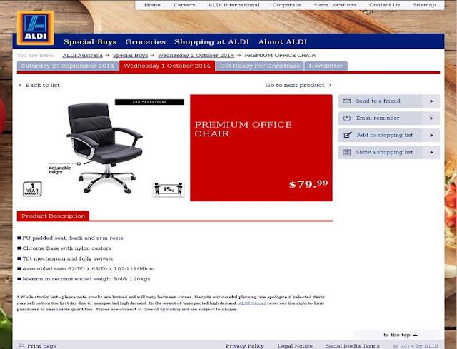 best buy Aldi ergonomic office chair review