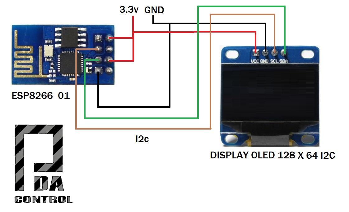 Esp8266 Display Oled I2c Client Irc Chat Control
