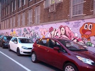 Graffiti urbain centre-ville de Montréal