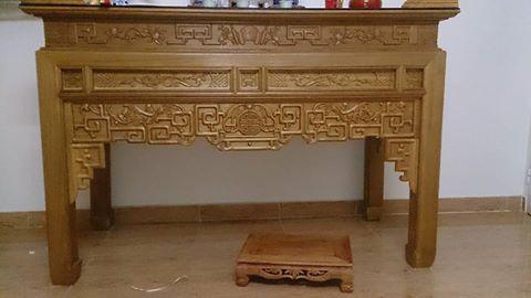 Tủ thờ gỗ Dổi - đồ gỗ mỹ nghệ Hải Phòng