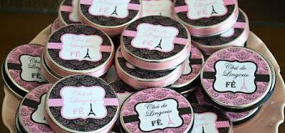 Lembrancinha Chá de Lingerie Paris!