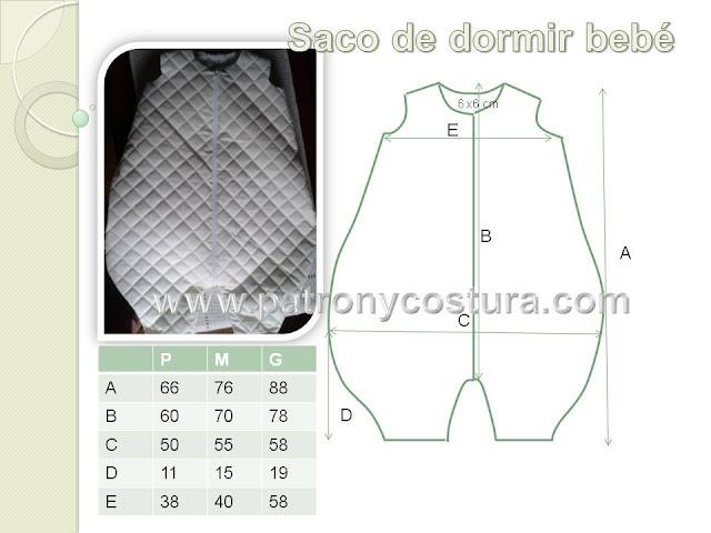 www.patronycostura.com/Saco de dormir bebé DIYTema 187