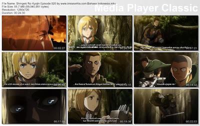 Download Film Shingeki No Kyojin Episode 020 Bahasa Indonesia