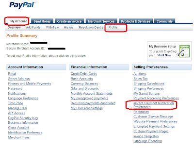 How to setup paypal ipn