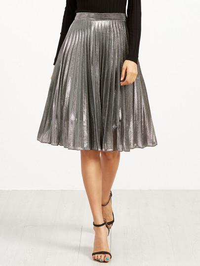 Metallic,  trend,  midi skirt