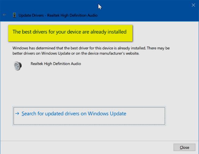 كيف تتحقق من تحديث التعريفات Device Drivers في ويندوز 10