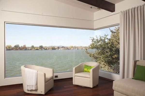 Hogares frescos ventanas de esquina modernas con vistas for Living de terraza easy