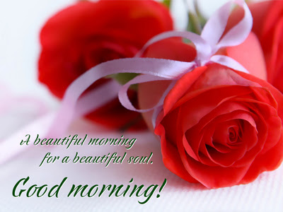 good morning images for lover with red rose