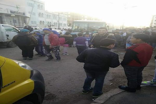 حادث مرو خطير بين حافلة نقل و دراجة نارية بتنس