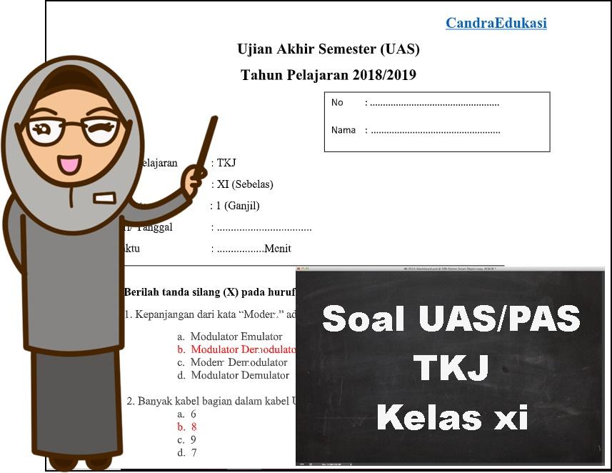 Soal Uas Tkj Kelas Xi Semester 1 Dan Jawaban