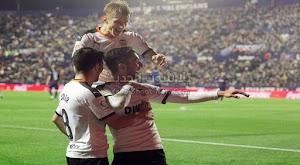 فالنسيا تقلب الطاوله علي فريق ليفانتي وتحقق فوز هامه في الجولة 16 من الدوري الاسباني