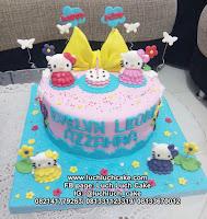 Kue Tart Ulang Tahun Fondant Hello Kitty
