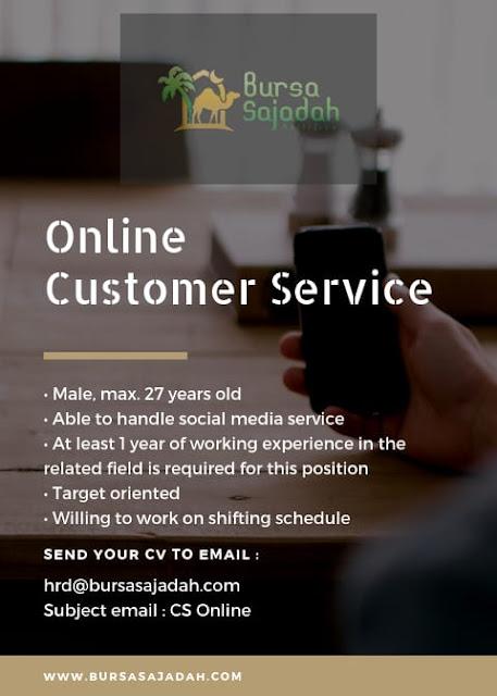 Lowongan CS Online Bursa Sajadah