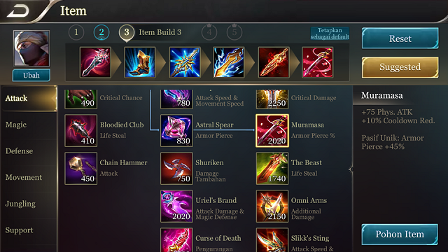 Item Build Murad AOV