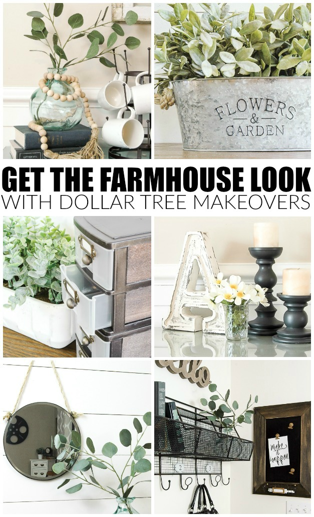 How To Get The Farmhouse Look With Dollar Tree Items Little House Of Four Creating A Beautiful Home One Thrifty Project At A Time How To Get The Farmhouse Look