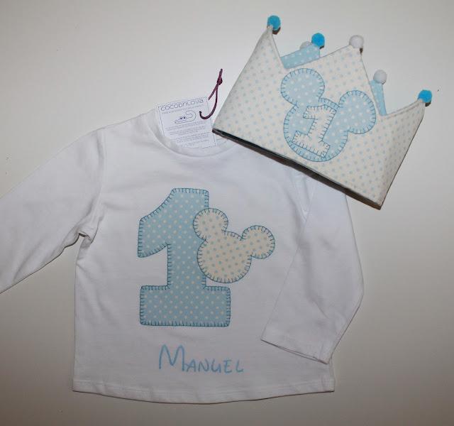 conjunto cumpleaños 1 año mickey mouse