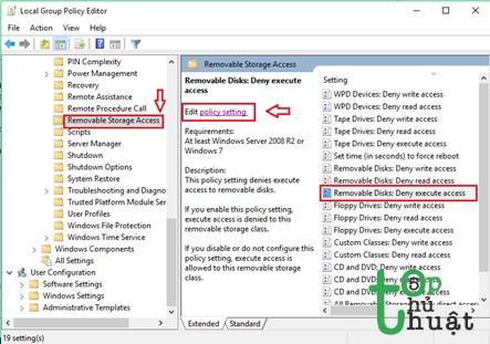 Sau đó click chuột trái vào Edit policy setting