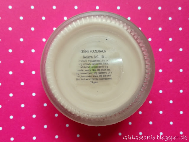 Lauren Brooke Cosmetiques natural creme foundation N10