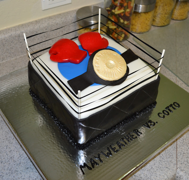 Sweetcakern Boxing Fight Cake