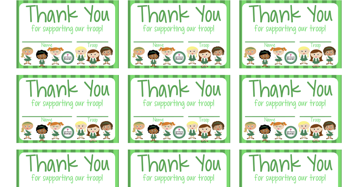 My Fashionable Designs: Girl Scouts   FREE Printable Thank You cards