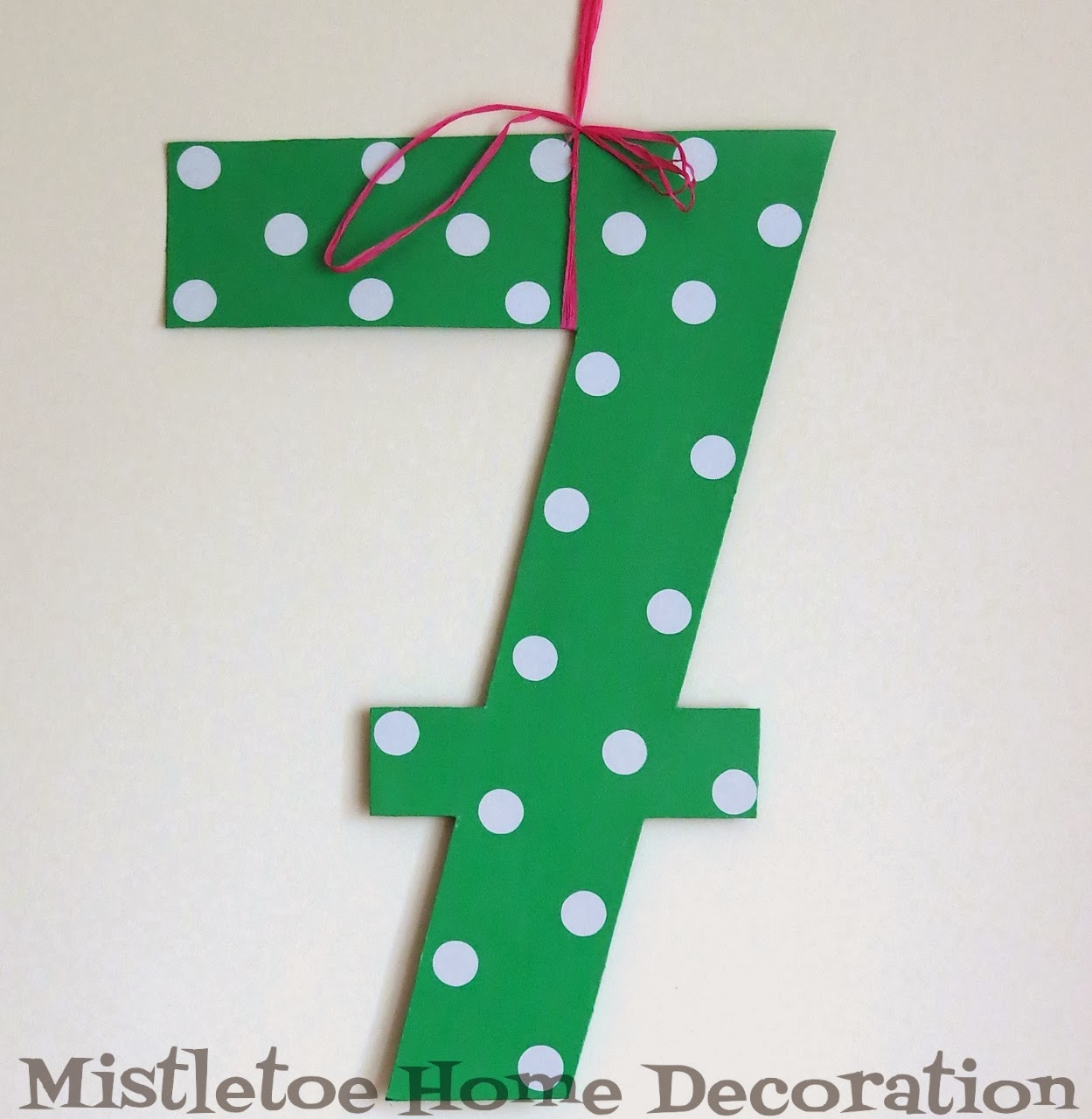 Mistletoe Home Polka Dot Number Sign For Birthday Party