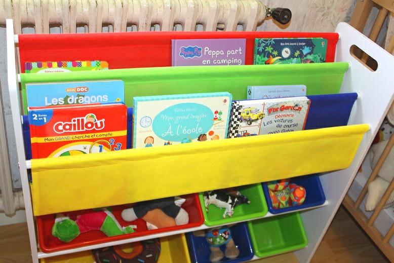 rangement pour jouets et livres songmics
