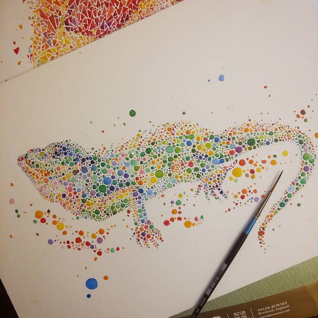 17-Iguana-Komodo-Dragon-Ana-Enshina-anaensh-Dot-and-Circle-Animal-Paintings-Ishihara-Test-www-designstack-co