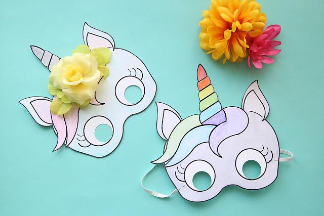 Unicorn Mask Free Printable Template Oh My Fiesta! in english