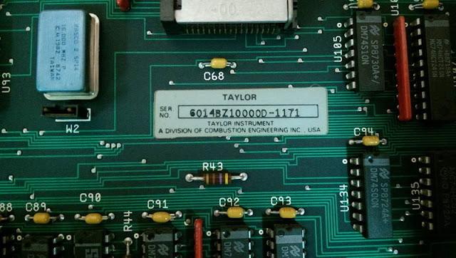 TAYLOR ABB 6014BZ10000D CIRCUIT BOARD PLC MODULE CARD