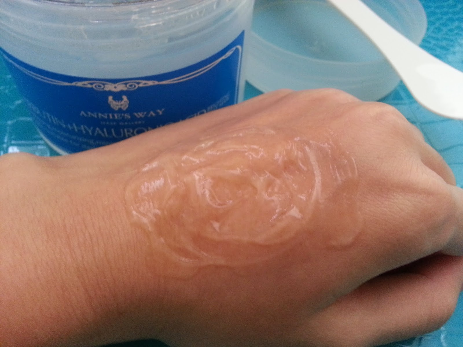 Jelly Mask on back of hand
