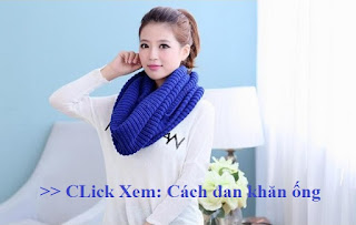 cách đan khăn ống len