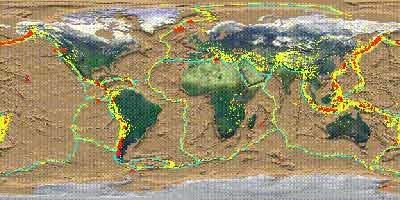Zonas de atividade vulcânica
