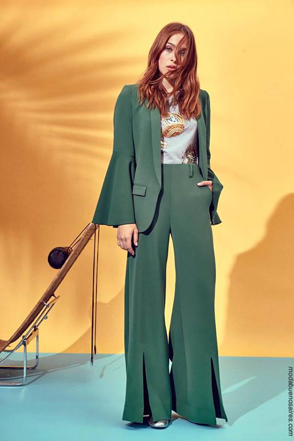 Trajes de moda primavera verano 2018 en Argentina. Moda primavera verano 2018.