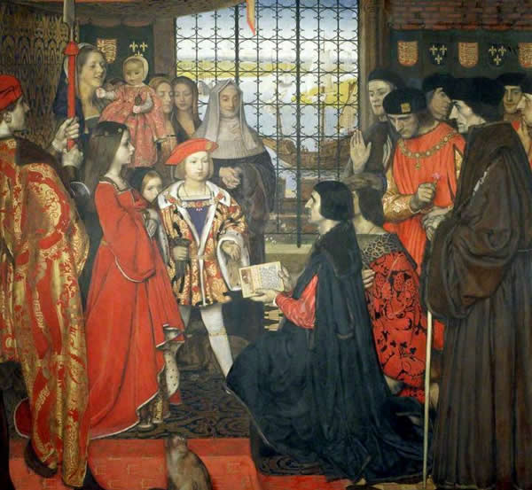 Erasmus And Thomas More Visit The Children Of King Henry Vii At Greenwich